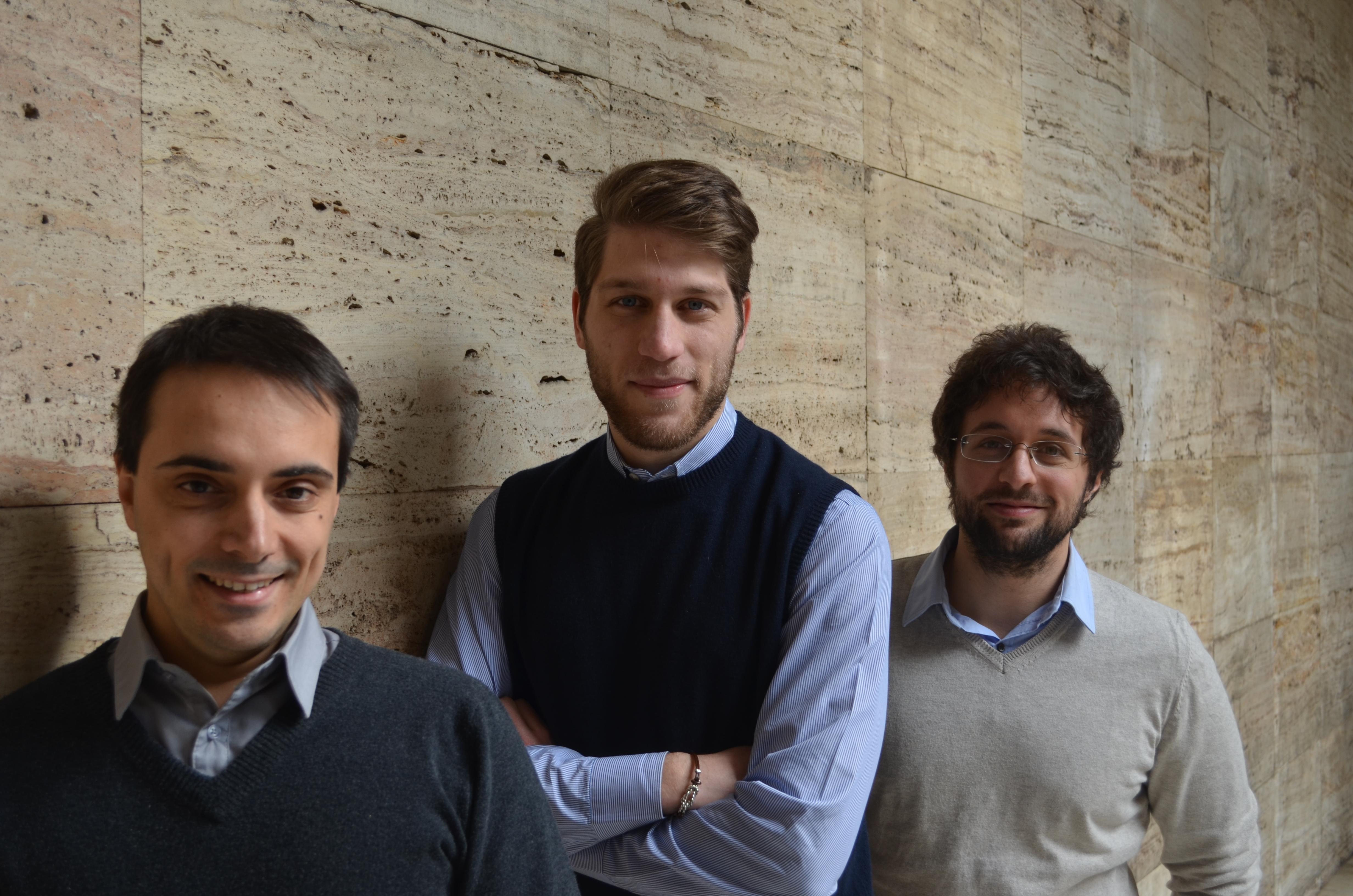 Leonardo Coppola, in mezzo, insieme a Gabriele Proni ed Emanuele de Amicis